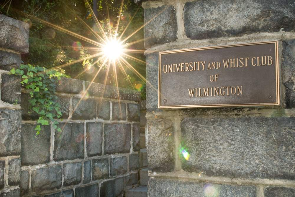 University and Whist Club sign